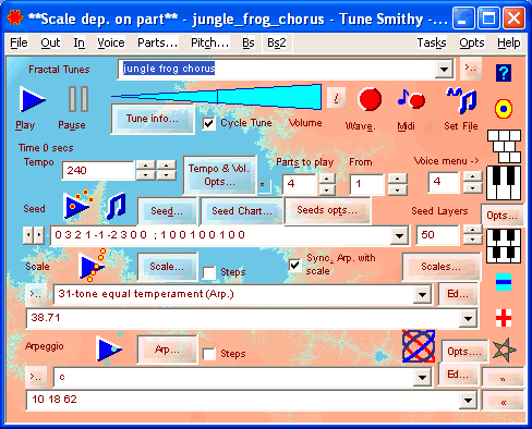 Composer task  - like the Player task but without the musical e-cards, randomiser and theremin, but with drop lists for the scales and arpeggios