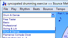Select Drum and Dance Metronome