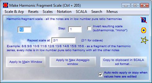 Harmonic Fragment