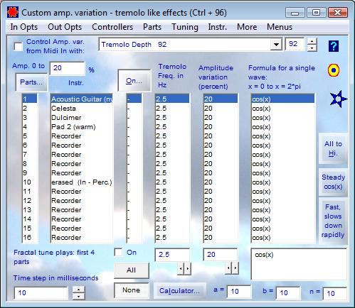 Custom amp. variation - tremolo like effects