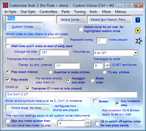 Highlighted Instrument for Custom Multi Instrument Voice