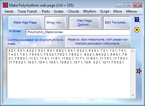 Make Polyrhythms Web Page