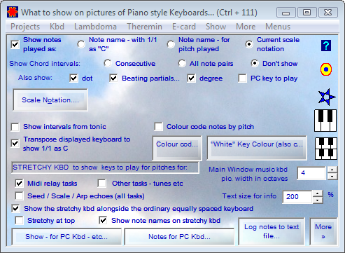 What to show on pictures of Piano Style Keyboards