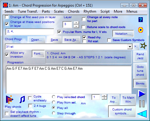 Chord Progressions for Arpeggios