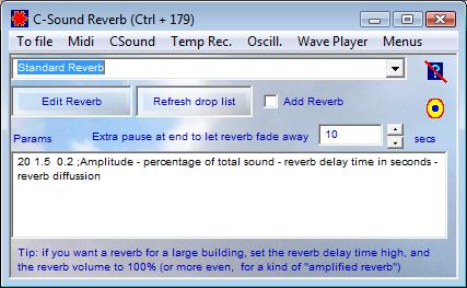 C Sound Reverb