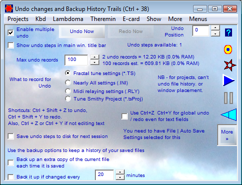 Undo Changes and Backup History Trails