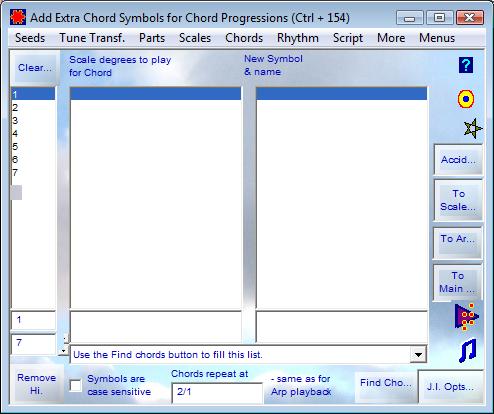 Add Extra Chord Symbols for Chord Progressions