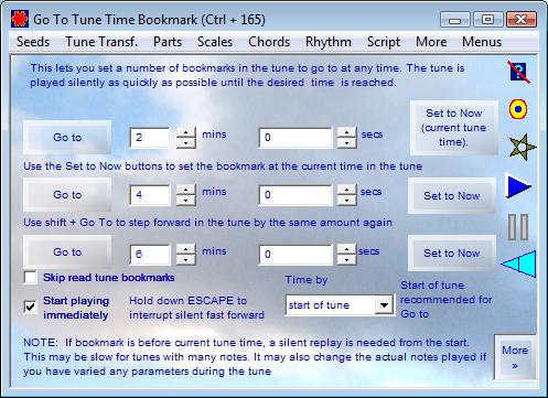 Go To Tune Time Bookmark